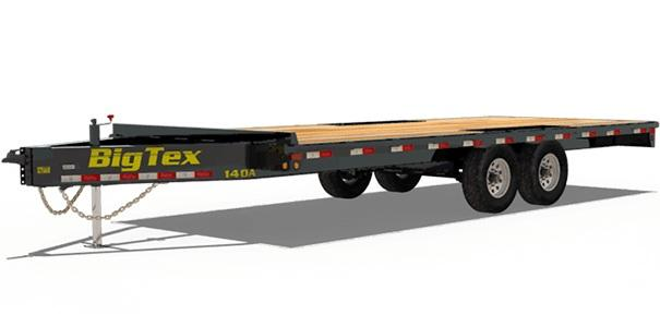 2019 Big Tex Trailers 14OA 102'' X 24 Deckover Equipment Trailer