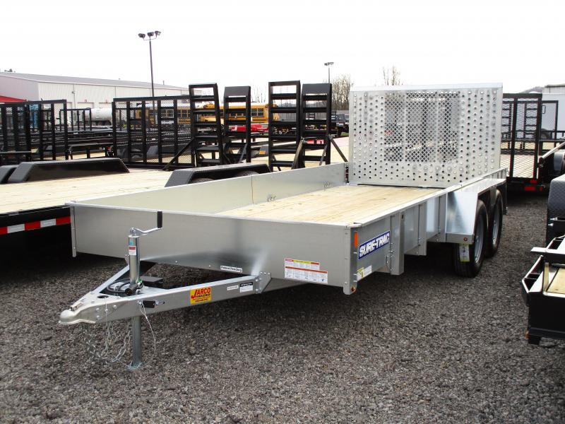 2019 Sure-Trac 7 x 16 Galvanized High Side  Tandem  7K