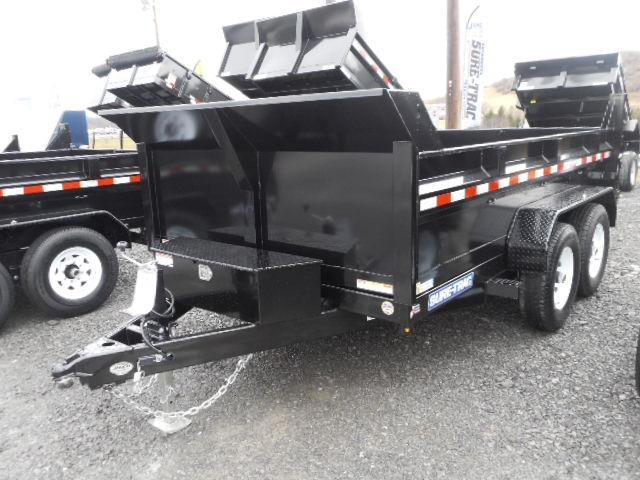 2018 Sure-Trac 82x12 Low Profile 12k Dual Ram Dump with Ramps