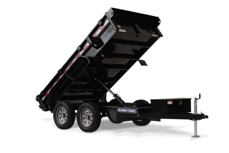 2020 Sure-Trac 5 X 10 7K Low Profile Homeowner Dump Dump Trailer