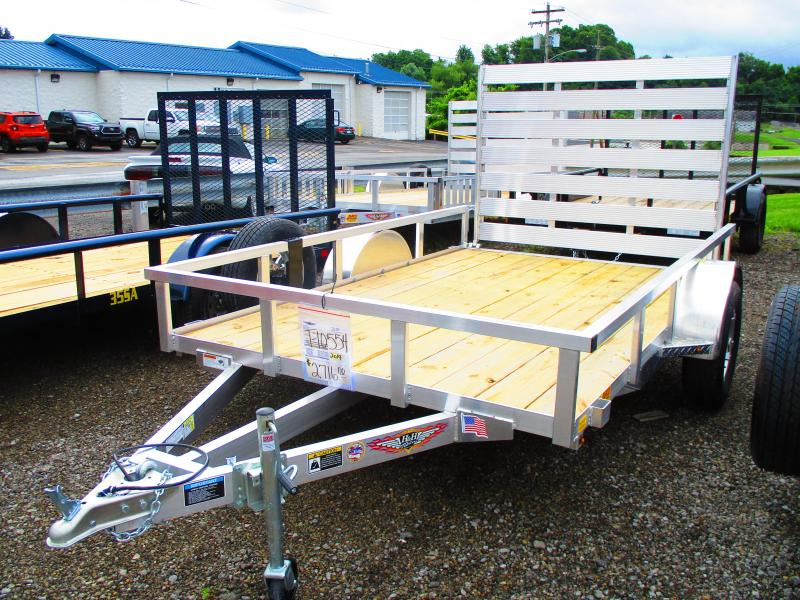 2019 H and H Trailer 76 X 10 Railside Aluminum Utility Trailer