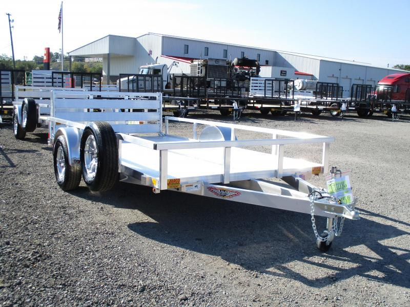2020 H and H Trailer 76 X 12 Railside Aluminum Utility Trailer