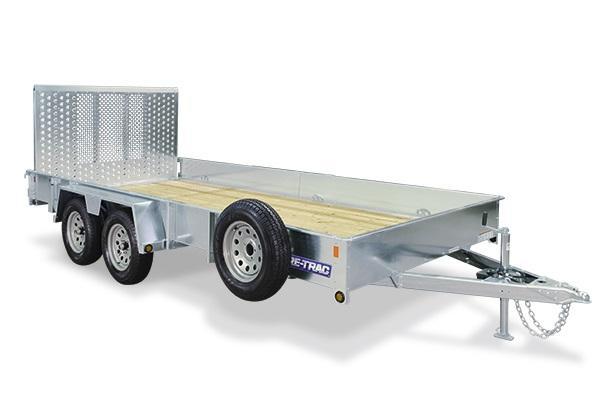 2018 Sure-Trac 7x16 Tandem Axle Galvanized High Side 7k Utility