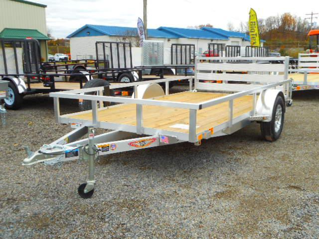 2019 H and H Trailer 76 X 12 Railside Aluminum Utility Trailer