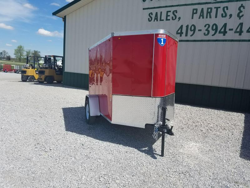 2017 Interstate 5 X 8 Enclosed Cargo Trailer-Red