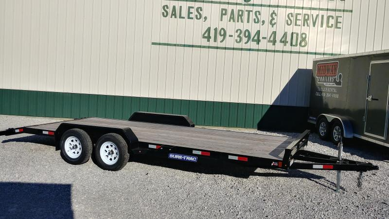 2018 Sure Trac 7 X 20 Wood Deck Car Hauler 10k Midway Trailers