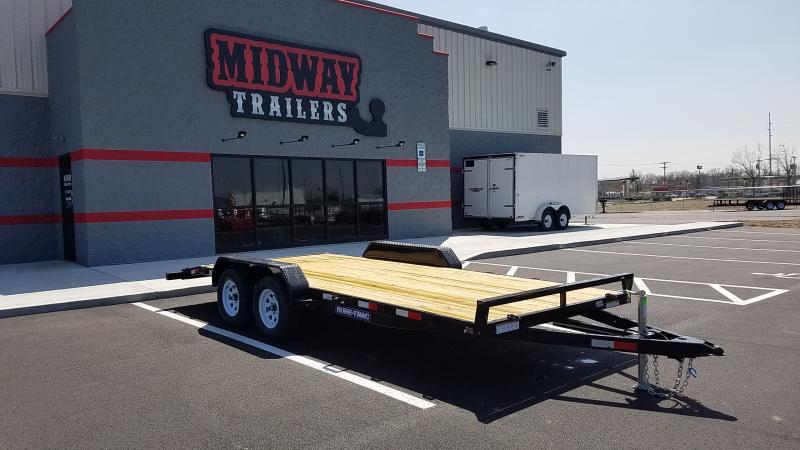 2018 Sure-trac 7'x18' Wood Deck 7k