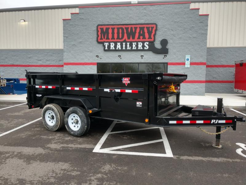 "2020 Pj Trailers 83""x14' Lowpro 4' High Side Dump 14k"