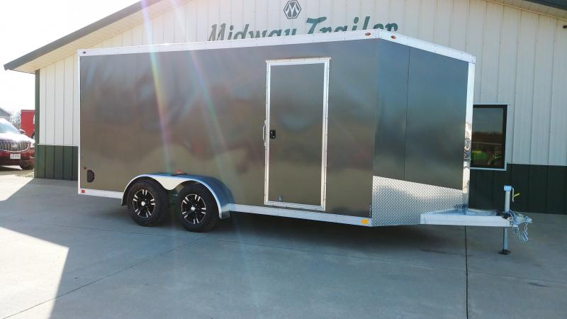 2019 One Trailers 7x16 Charcoal One Enclosed
