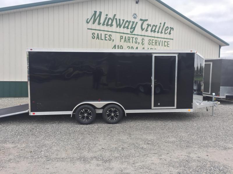 One Trailers 7X18 All Aluminum Enclosed Cargo Trailer-Black