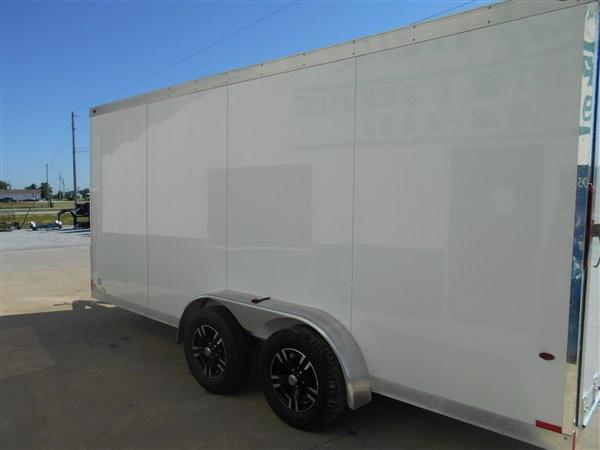 One Trailers 7X16 All Aluminum Enclosed Cargo Trailer-White
