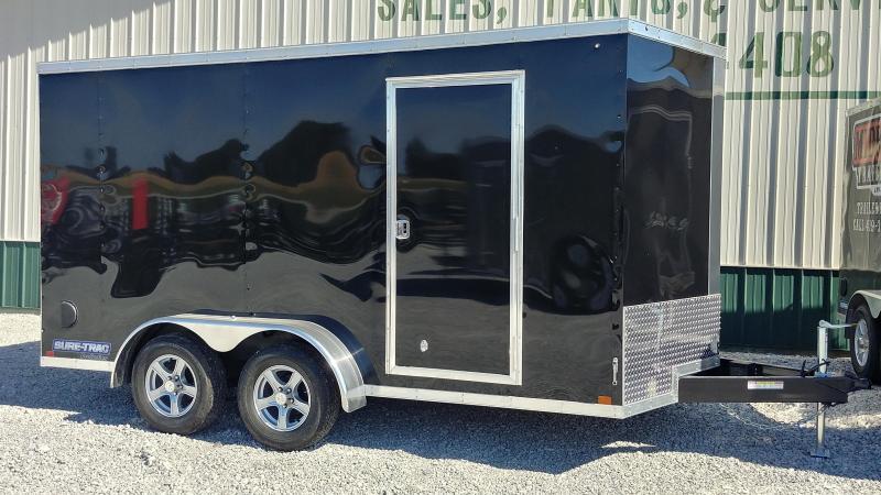 2018 Sure-Trac 7 x 14 Pro Series Wedge Cargo TA 7K Black