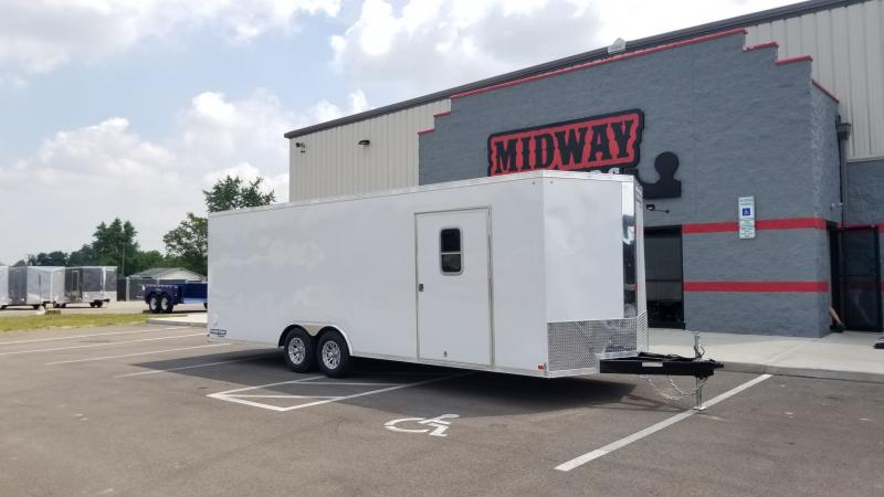 "2019 Sure-trac 8.5'x24'+6"" White 10k Car Hauler"