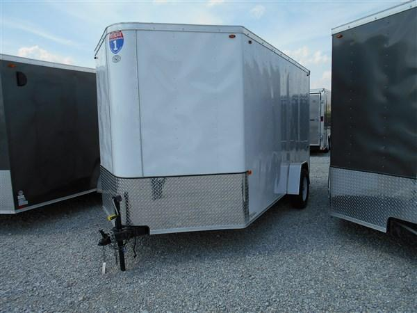 Interstate 7X14 Enclosed Cargo Trailer-White