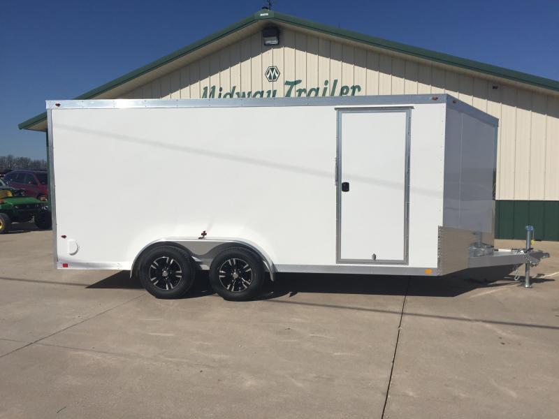 2019 One Trailers 7x16 White One Enclosed