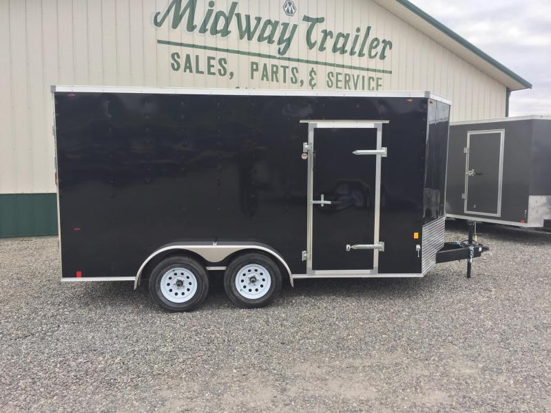 Interstate 7X16 V-Nose Enclosed Cargo Trailer - Black