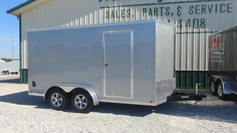 2018 Sure-Trac 7 x 14 Pro Series Wedge Cargo TA 7K Silver