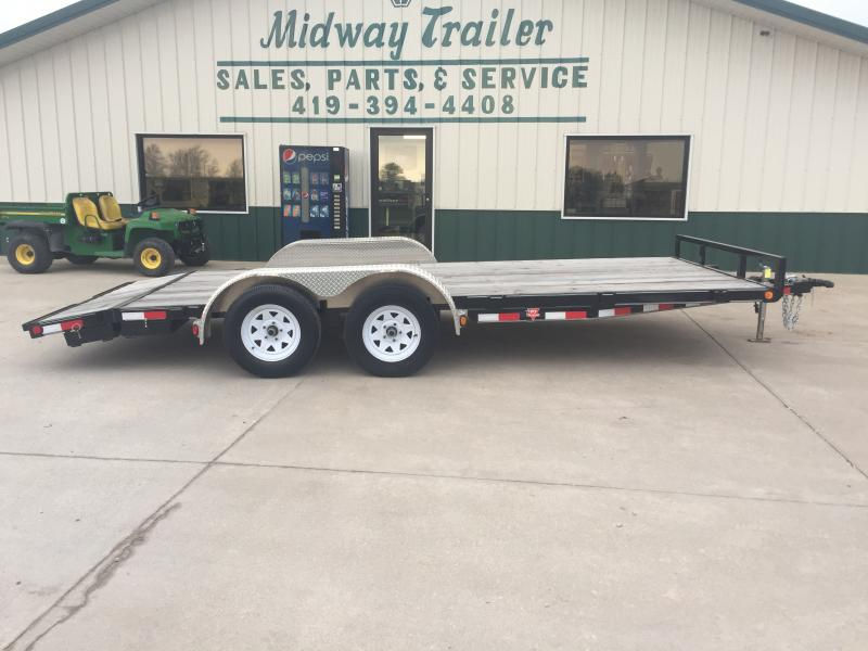 2019 Pj Trailers 7'x18' Wood Deck 7k