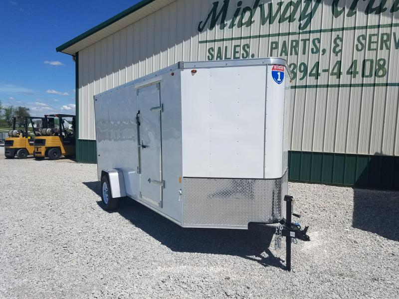 Interstate 6X14 V-Nose Enclosed Cargo Trailer- White