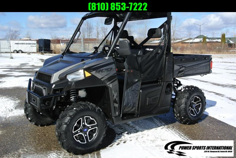 2018 POLARIS RANGER XP 900 EPS PREMIUM BLACK AND SILVER #5968
