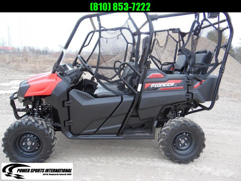 2017 HONDA SXS700M4H PIONEER 4-Seater RED Side By Side Red #0118