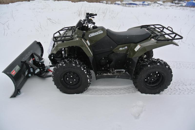 2016 SUZUKI LT-F400FL6 KINGQUAD 400 FSI Warn Plow and Winch #0030