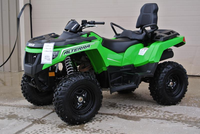 2017 ARCTIC CAT ALTERRA 500 TRV 4X4 Green 2-Up UTILITY ATV #3258