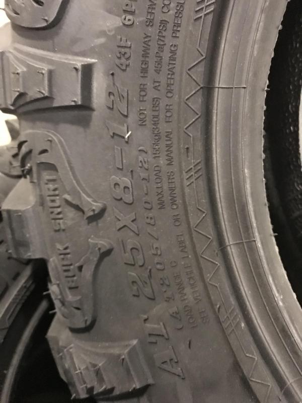 Set of 4 ATV/UTV Sedona Buck Snort Tires (0028) $449/set