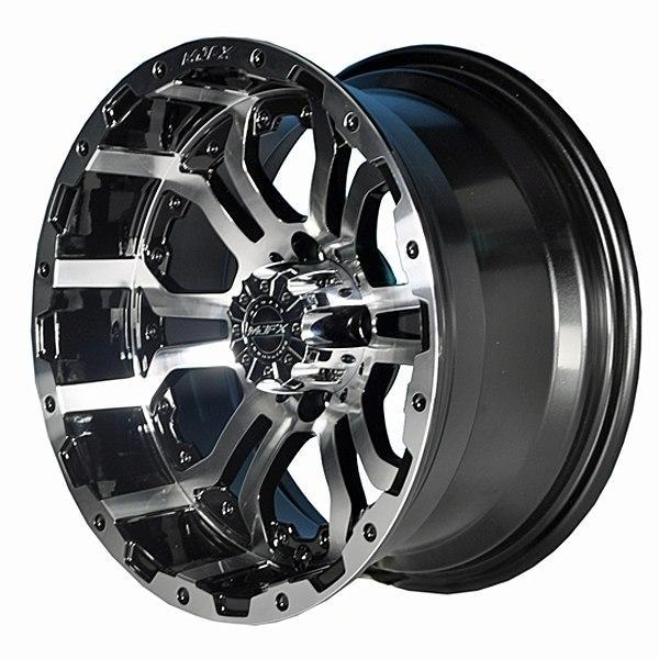Brand New Set of 4 GTW Barrage Tire on MJFX 14x7 Machined Black Omega Wheel (0017) $729