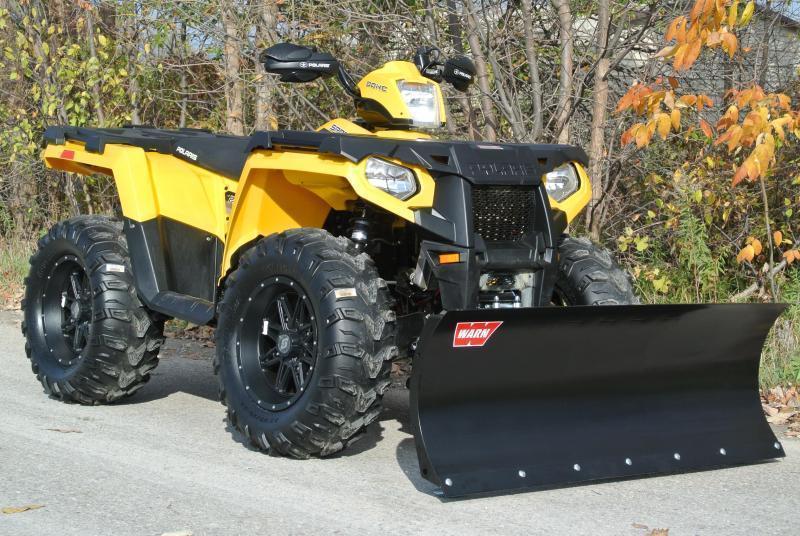 Complete WARN ATV  Snowplow Package