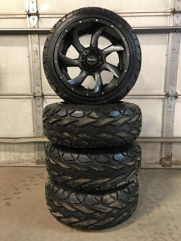 REDUCED PRICE Set of 4 STREET FOX 205/40R-14 EXCEL RADIAL TIRES ON MJFX RIMS (0030) $350