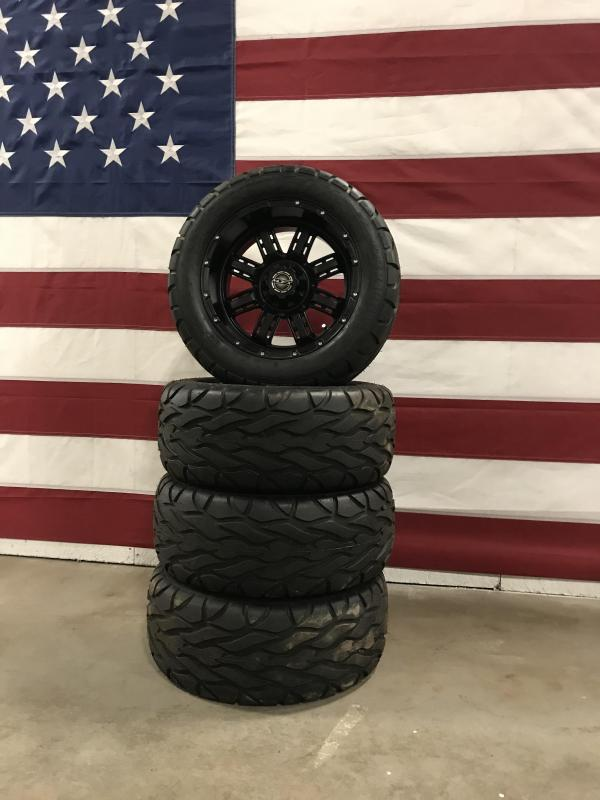 Used Aftermarket Golf Cart Tires Excel Street Fox Tires on MadJax Wheels #0034 $625