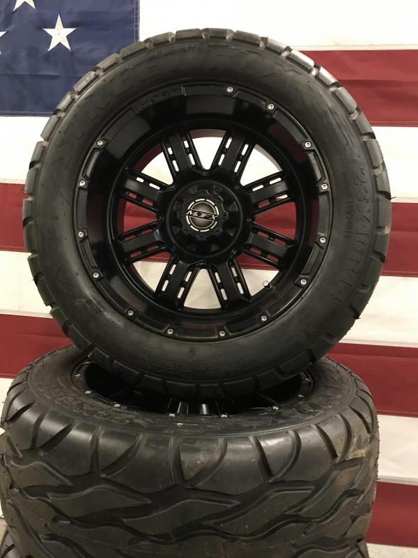 Used Aftermarket Golf Cart Tires Excel Street Fox Tires on MadJax Wheels #0034 $625