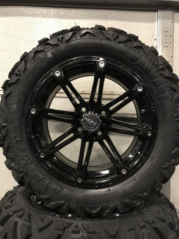 AVAILBLE TO ORDER Set Of 4 GTW Barrage Tire on 14x7 MJFX Black Element Wheel $729  (0015)
