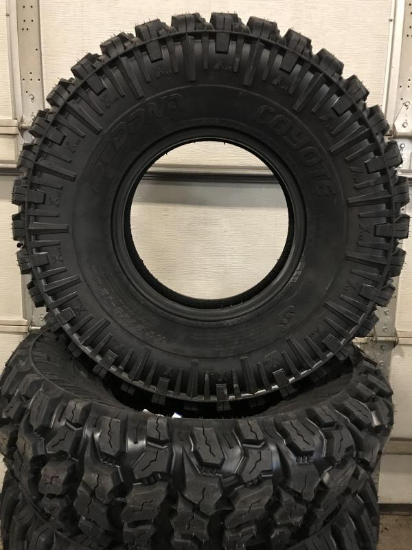 SET OF 4 SEDONA COYOTE TIRES WITH NO RIMS (0026) $399