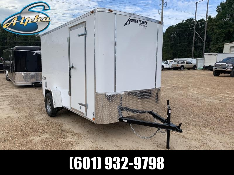 New 2019 6 x 12 Single Axle Economy Enclosed Trailer