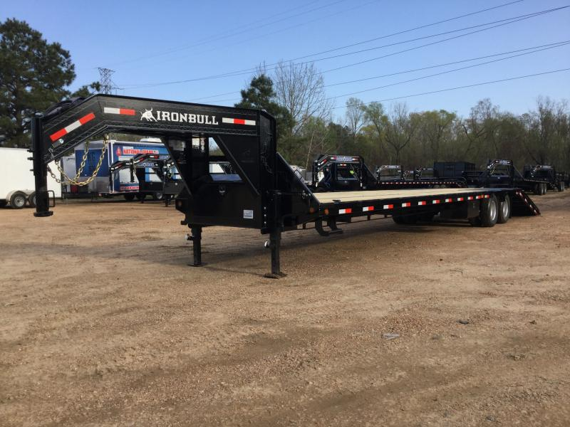 "2018 Iron Bull 102"" x 40' Low Pro Equipment Flatbed 24K GVWR"