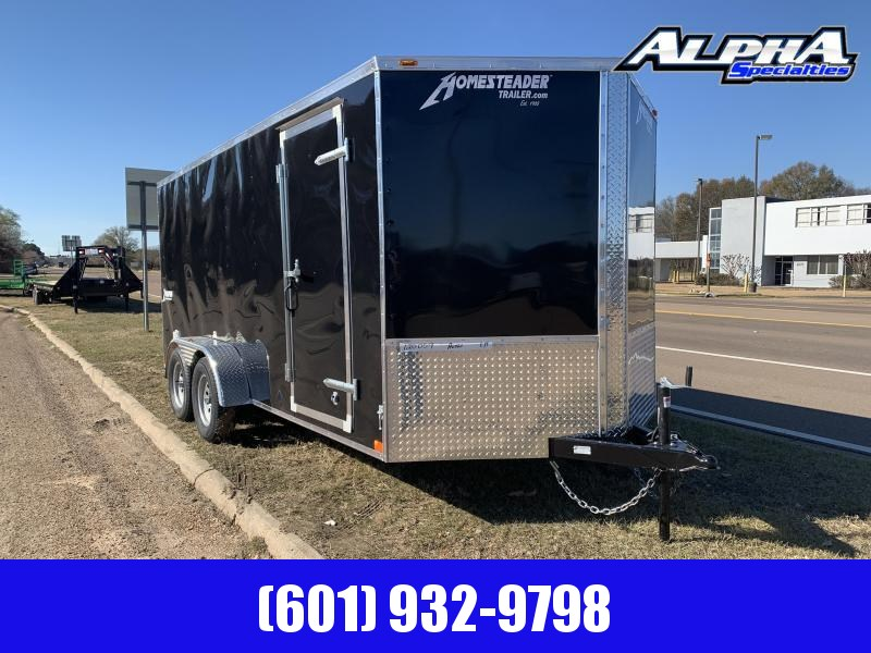 New 2019 7 x 16 Tandem Axle Enclosed Cargo Trailer 7K GVWR