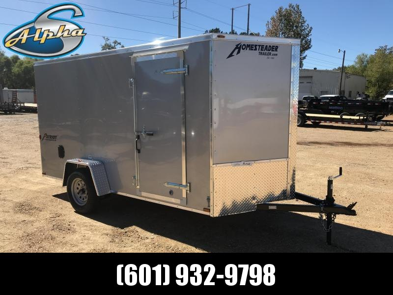 New 2019 6 x 12 Single Axle Enclosed Cargo Trailer 3K GVWR
