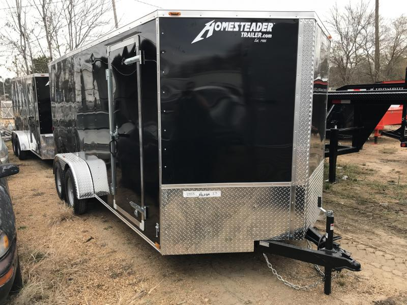 2018 Homesteader 7 x 16 V-Nose Enclosed Cargo Trailer