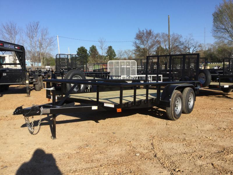 2018 Capstone 6.6 x 14 Tandem Axle Pipe Top Utility Trailer
