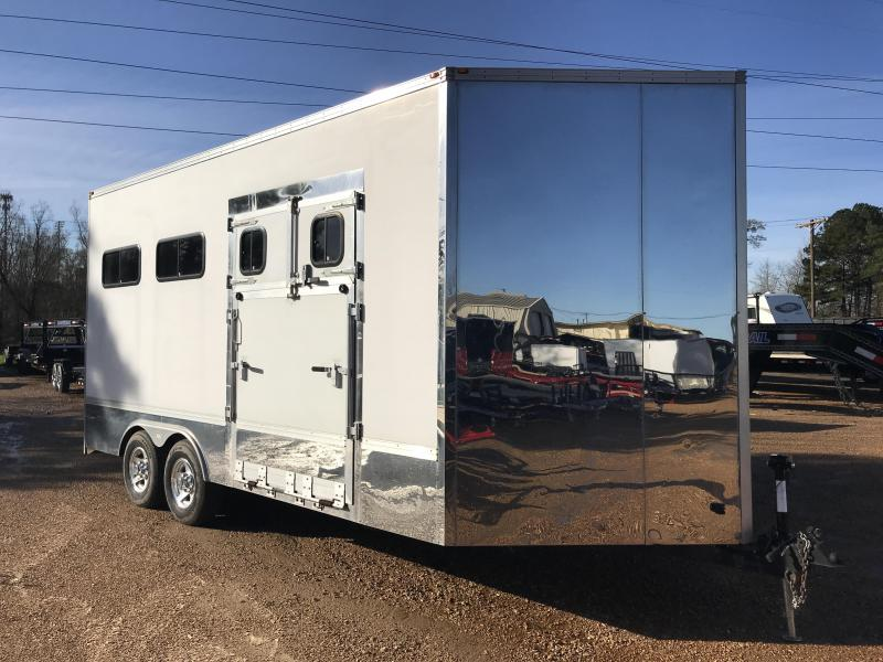 Used 2008 Class Act 8.5 x 18 Tandem Axle Enclosed Horse Car Trailer