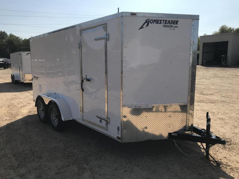 2018 Homesteader 7 x 14 V-Nose Tandem Axle Enclosed Cargo Trailer