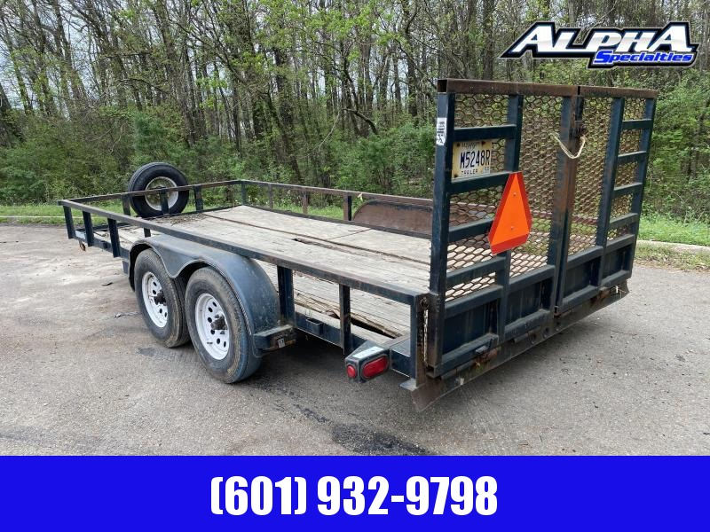 2009 Top Hat Trailers 7 x 16 Tandem Axle Utility Trailer