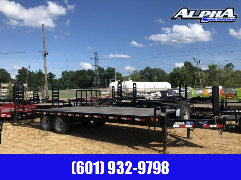 "2018 USED 102"" x 24' DECKOVER Equipment Trailer 14k GVWR"