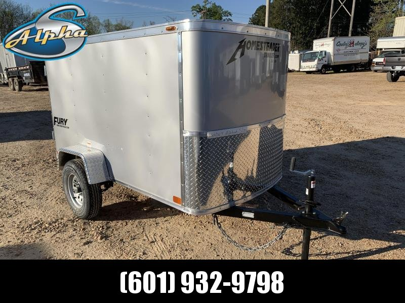 New 2019 4 x 8 Enclosed Vacation Luggage Trailer