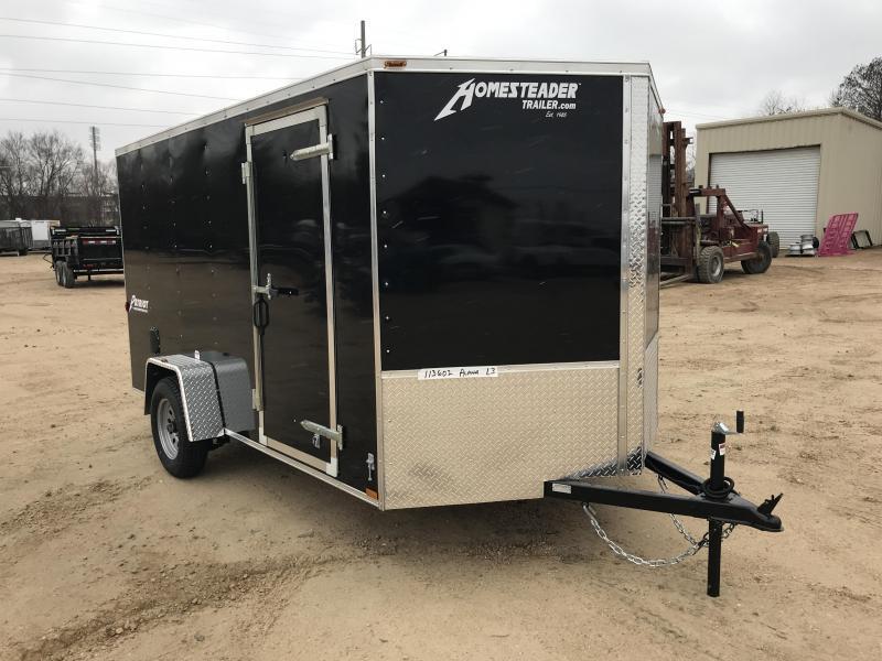 2018 Homesteader 7 x 12 Single Axle Enclosed Cargo Trailer