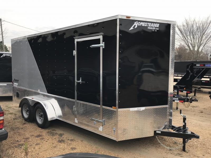 2018 Homesteader 7 x 16 Enclosed Trailer Off-Road Deluxe