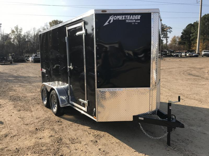 2018 Homesteader 6 x 12 V-Nose Tandem Axle Enclosed Cargo Trailer