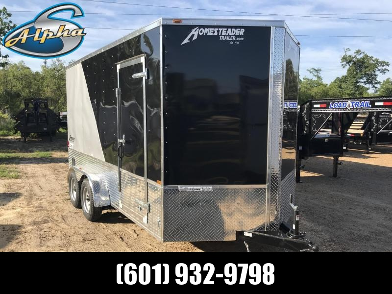 New 7 x 14 Deluxe Tandem Axle Enclosed Cargo Trailer